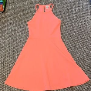 Mossimo Bright Coral Skater Dress
